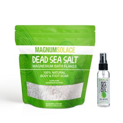 Home & Travel Bundle: Magnesium Bath Flakes + Magnesium Oil