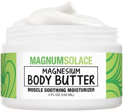 Magnesium Body Butter - Infused with Magnesium Oil, Shea Butter & Mango Butter for Restless Legs Relief