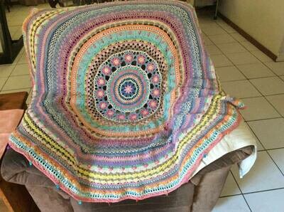 The Queen Throw designed by Mandala Queen