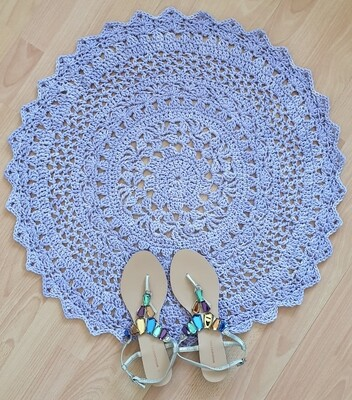 Desert Flower Rug Crochet Pattern