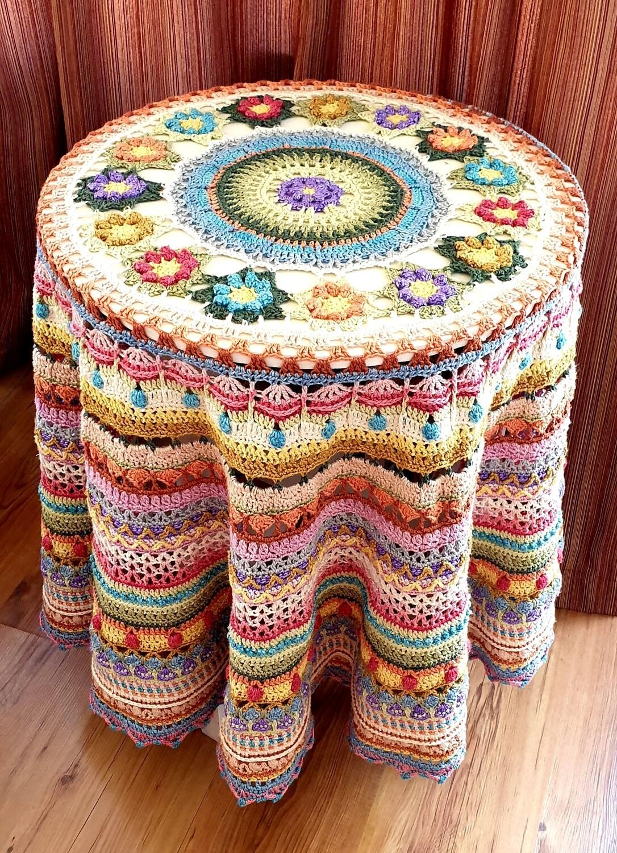 Country Garden Tablecloth designed by Annamarie Esterhuizen