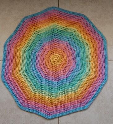 Ray Of Hope Bathroom Rug Crochet Kit