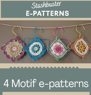 4 Motif E-Pattern Book - Crochet Stash Buster Competition