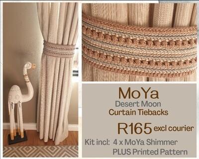 Desert Moon Curtain Tiebacks Crochet Kit
