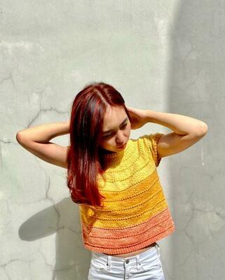 Sunset Tee Knitted Kit by YvetteOreo