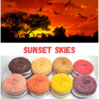 Sunset Skies Double Knit Palette