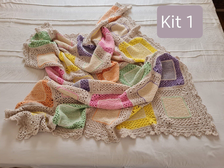 Cadre Knit & Crochet Throw KITS designed by Annamarie Esterhuizen