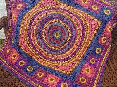MoYa Romancing the Yarn Blanket Pattern