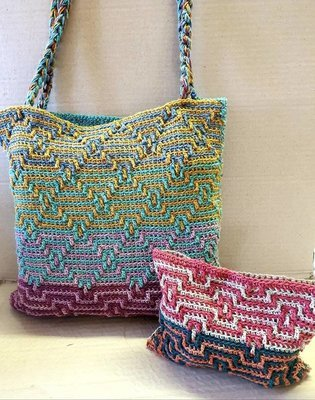 MoYa Tetris Tote and Makeup Bag Pattern