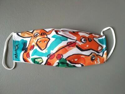Mondmasker TIENER Three giraffes (+/- 12-16 jaar)