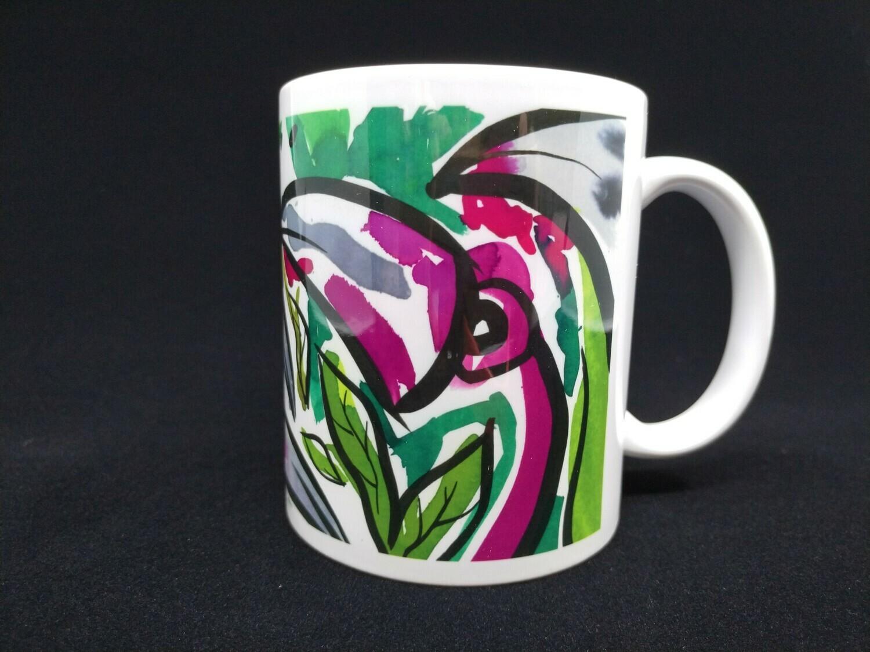 Flamingos in the green - AAaRGh Art Collectie