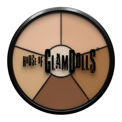 GlamBase wheel Bespoke Option - Arabic/S Asian skin tones - Highlight/ correct / conceal / contour/ glow