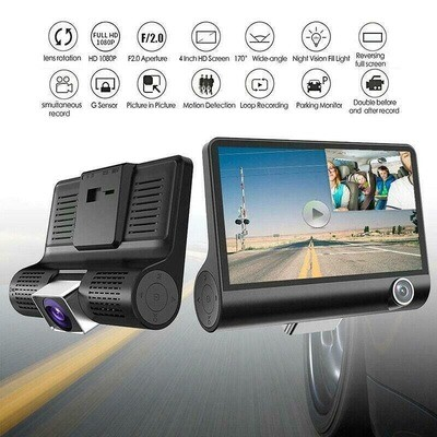 Dual Car Dash Cam with Front and Back Cameras