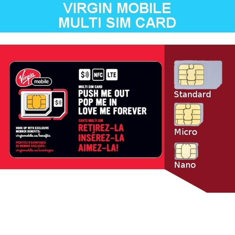 Triple Combo SIM Card for All Virgin Cell Phones