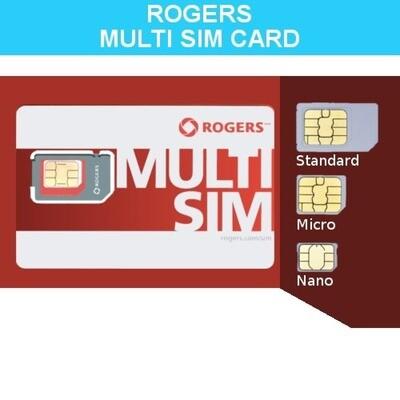 Triple Combo SIM Card - Rogers