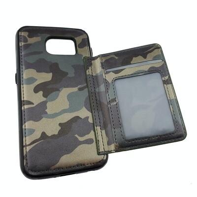 Camo Flip Leather Case - Samsung Galaxy S6