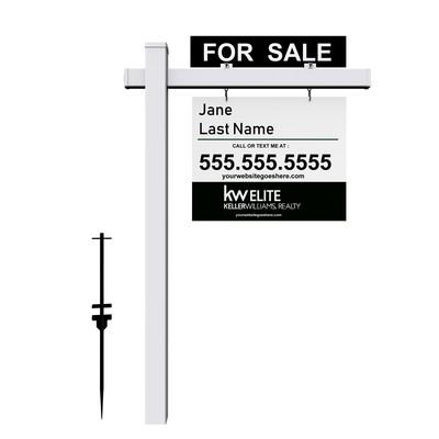 Real Estate Sign Post (PRINTED)