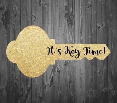 Faux Gold Glitter Key Prop