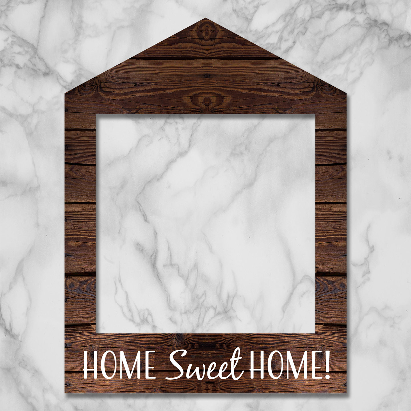 Wooden Home Sweet Home Frame Prop