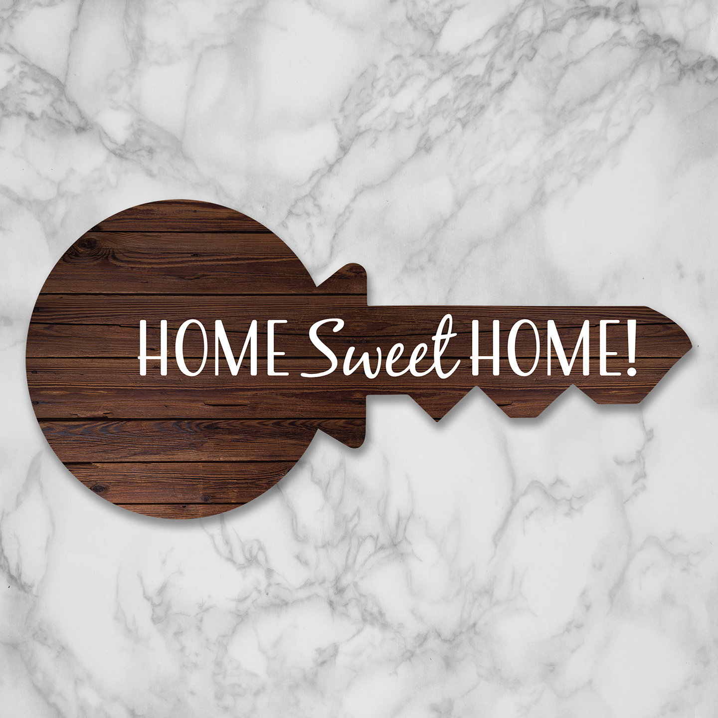 Home Sweet Home Faux Wooden Key Prop