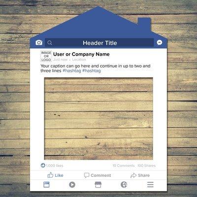 Social Media House Frame Prop