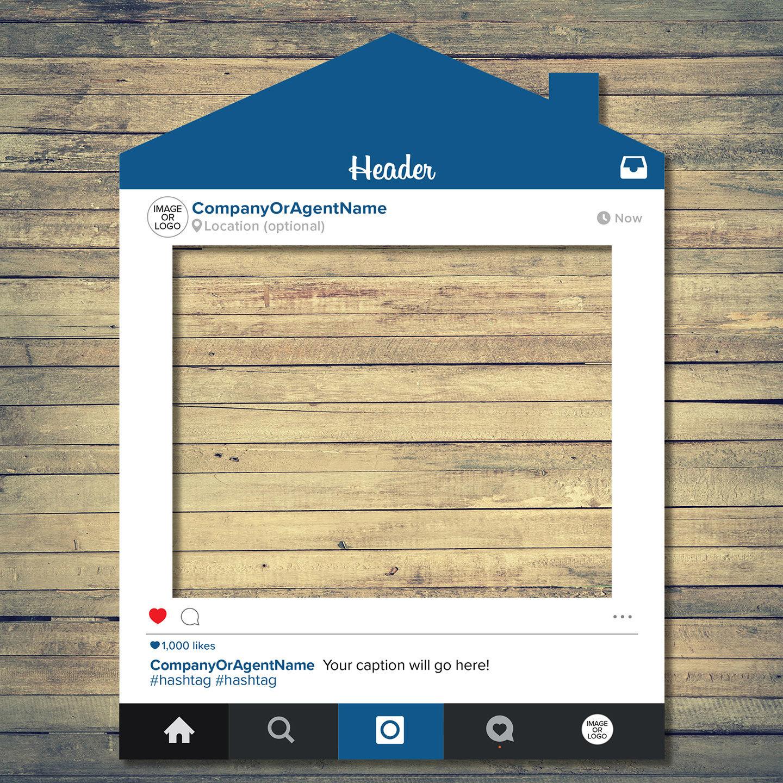 Real Estate Social Media House Frame Prop