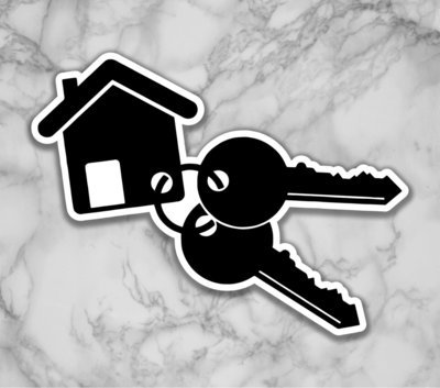 House and Keys Shaped Prop