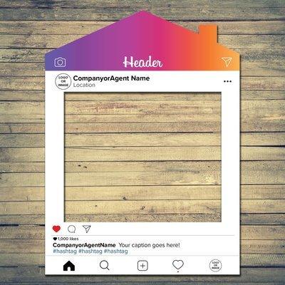 Real Estate Updated Social Media House Frame Prop