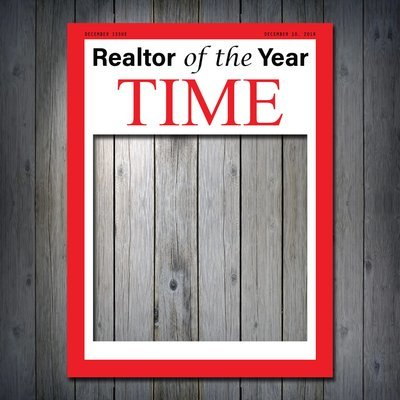 Realtor of the Year TIME Magazine Frame Prop