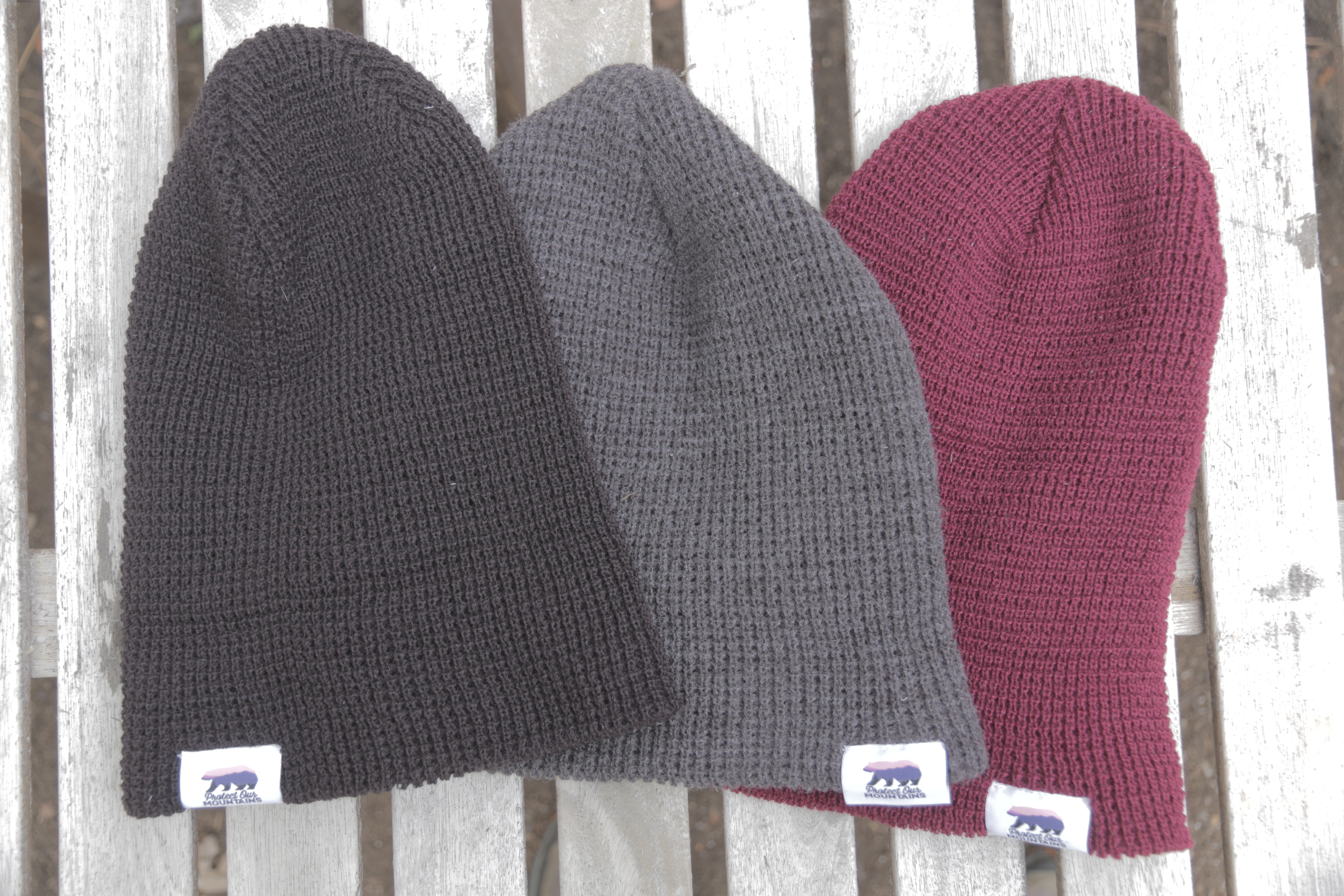Protect Our Mountains Waffle Knit Beanie
