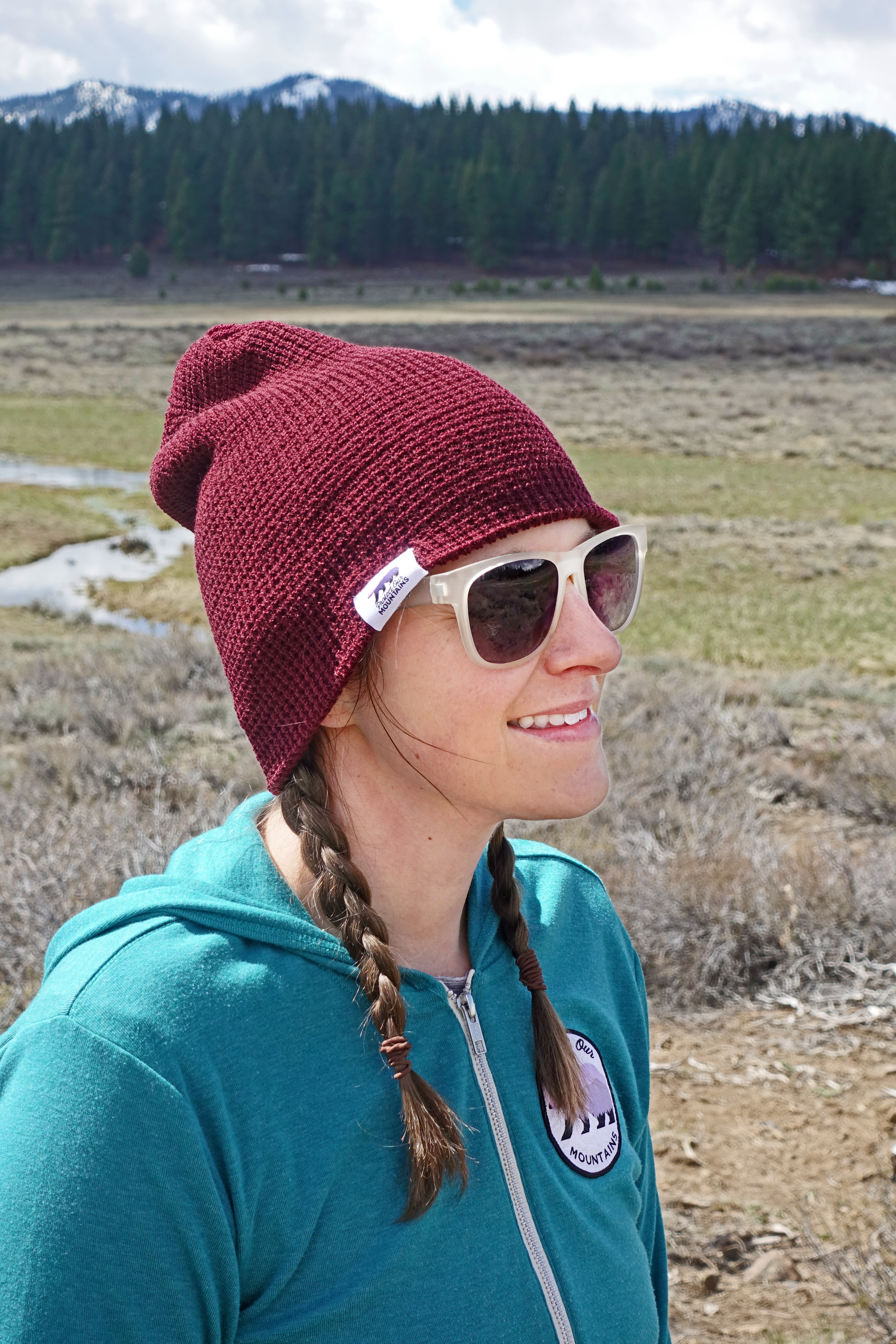 Protect Our Mountains Waffle Knit Beanie 00011