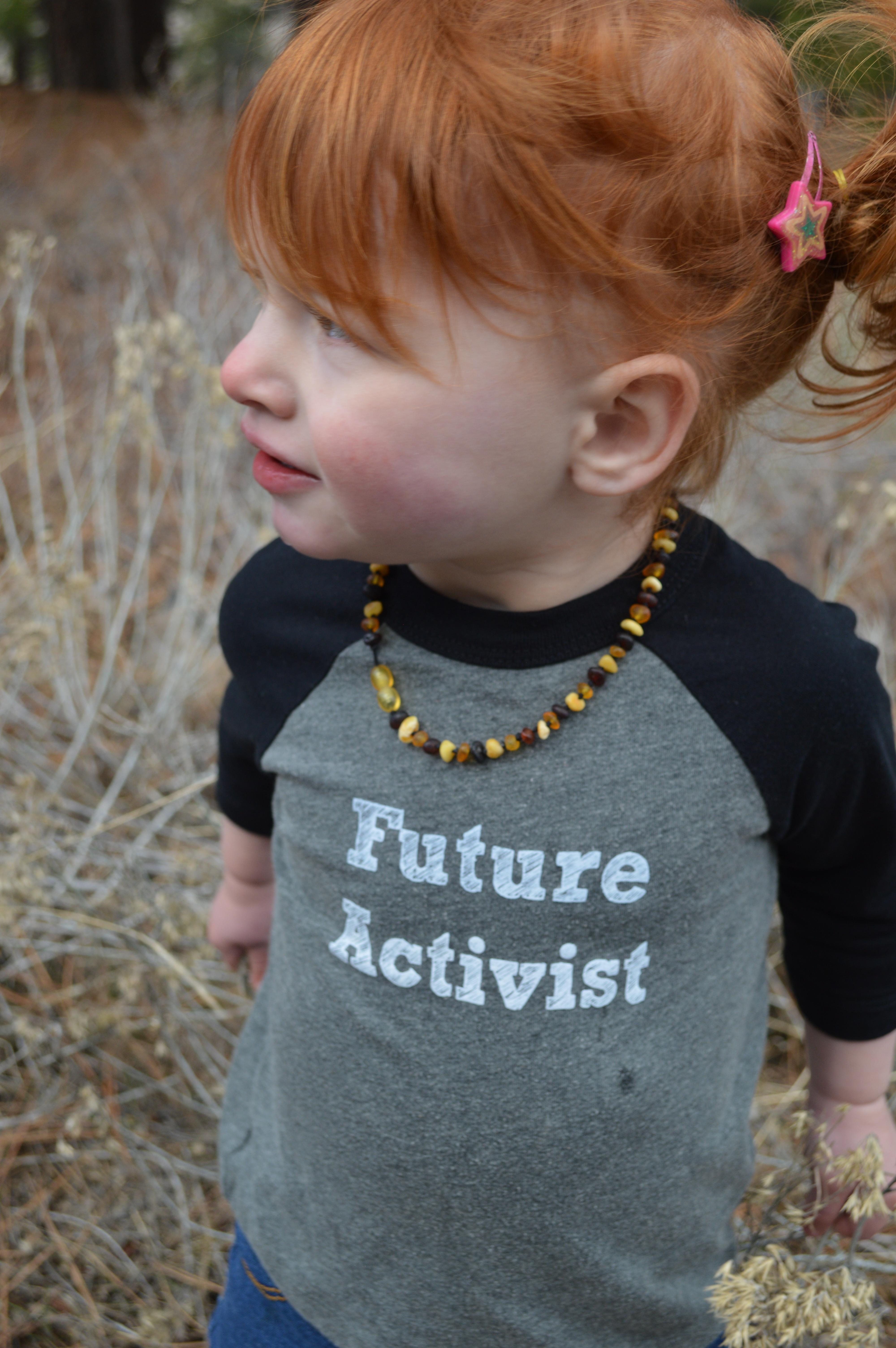 Future Activist Toddler Baseball Tee