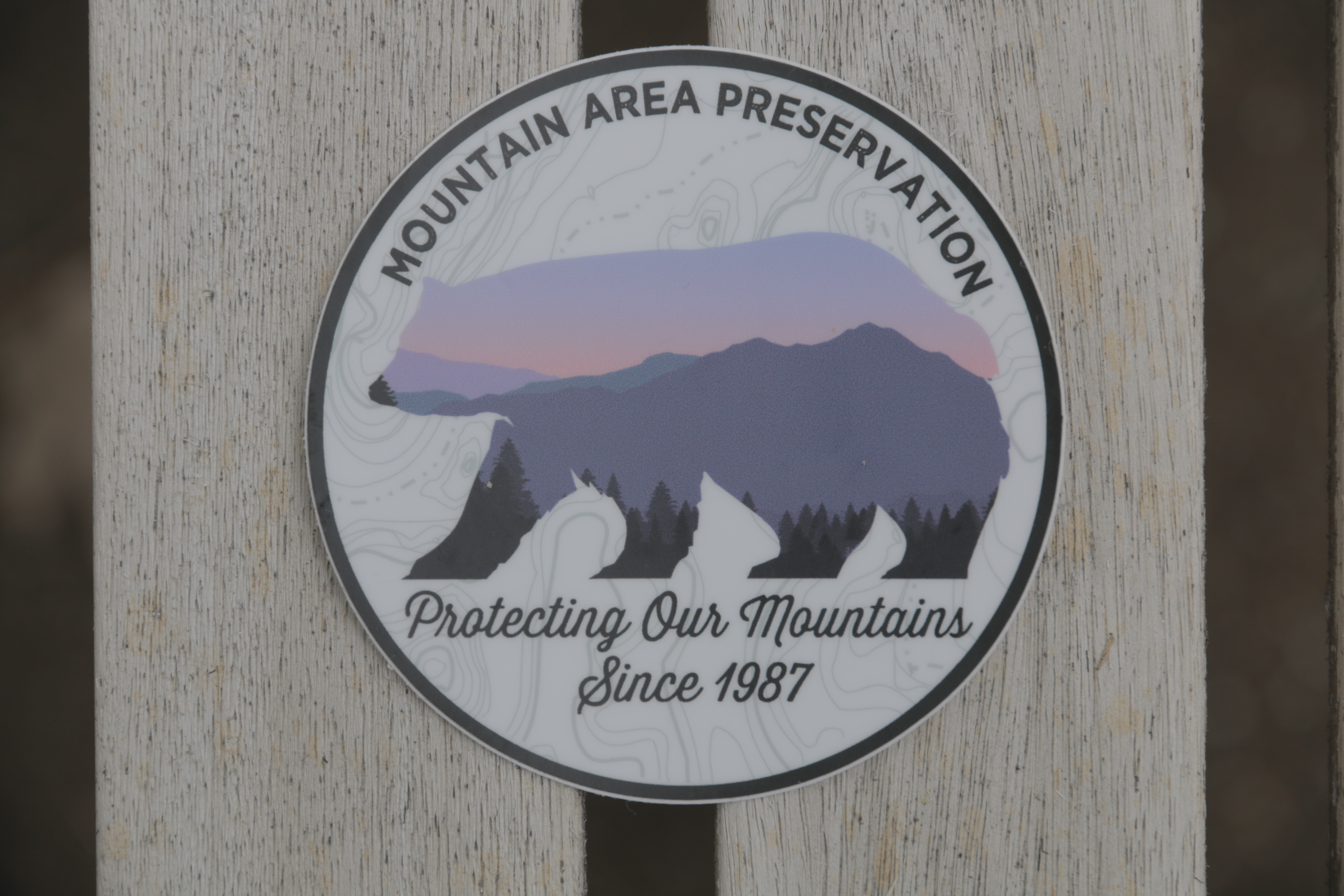 Protect Our Mountains Bear Sticker 00014
