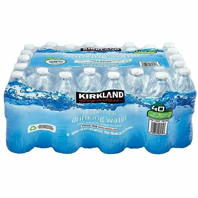 Kirkland Signature - Agua Potable purificada,16.9 onzas, 40 contenidos