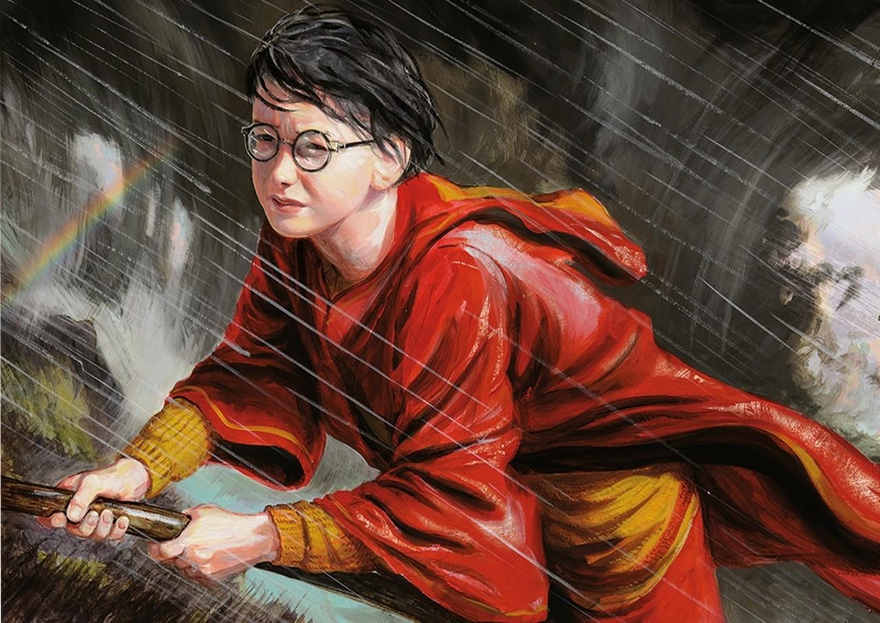 Harry Potter on broomstick