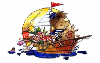 Hedgehogs - swim with congratulations