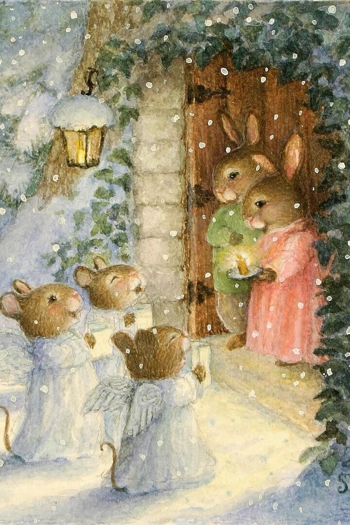 Rabbits, Christmas carols Susan Wheeler