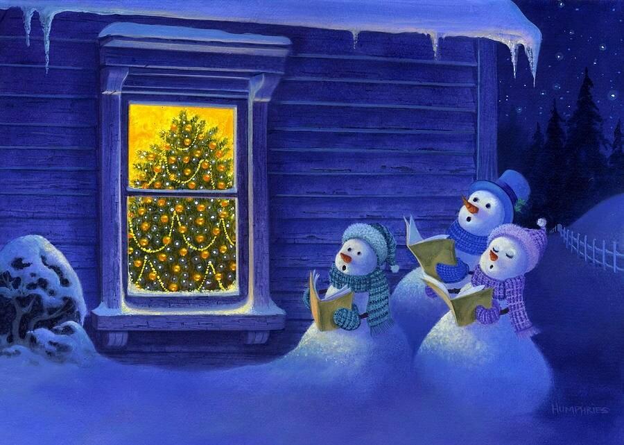 Snowmen sing. Снеговики поют