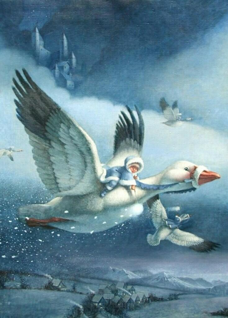 Swan geese. Гуси лебеди