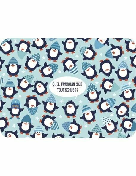 """Carte Lali Hérissons """"Les petits Pingouins"""" ( In original )"""