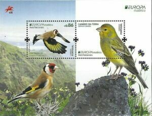 Stamp block 2019, Portugal EUROPA Madeira, birds s / s, 2019 - Philately