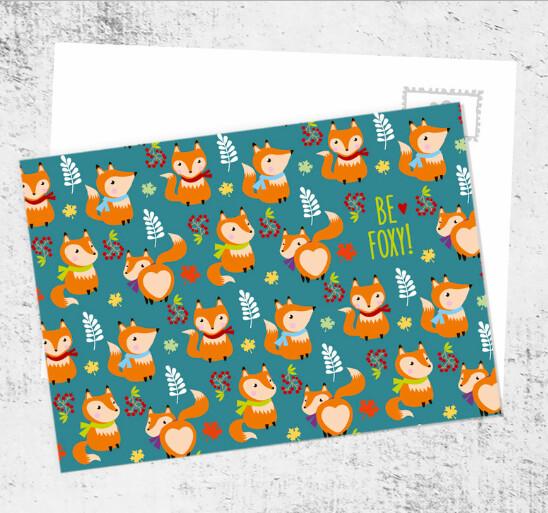 "Postcard ""Be foxy!"""