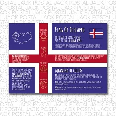 Flags of the countries of the world.  Iceland