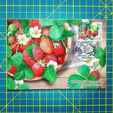 Maximum card Russia 2020  Pineapple strawberries