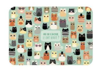 """Carte Lali """"Où se cache le Chat beauté?"""""""