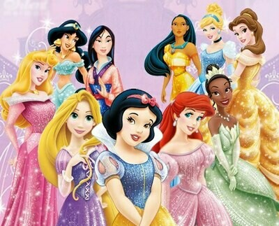10 Disney princesses