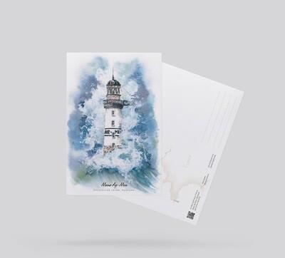 Postcard Lighthouse Ar-Men, France.  Открытка Маяк Ар-Мен, Франция