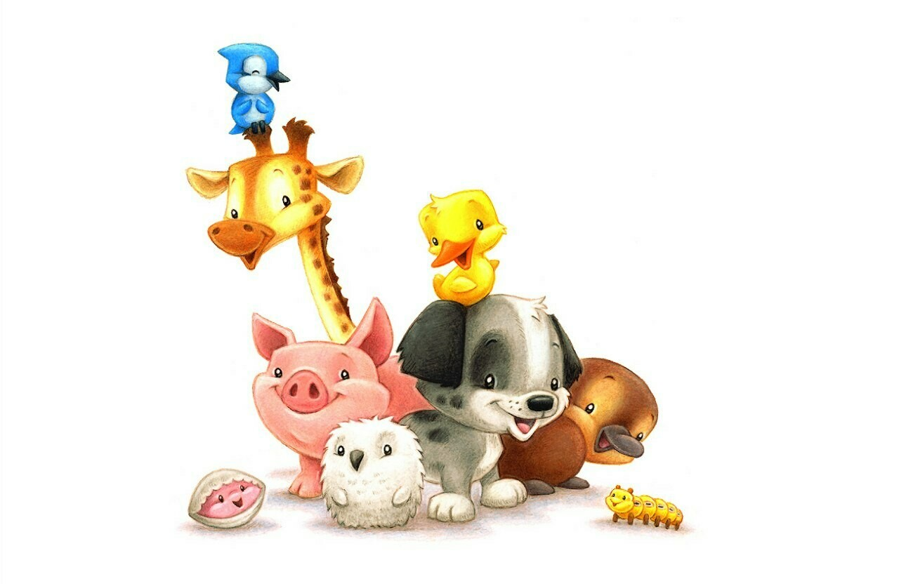 Animals together Звери вместе