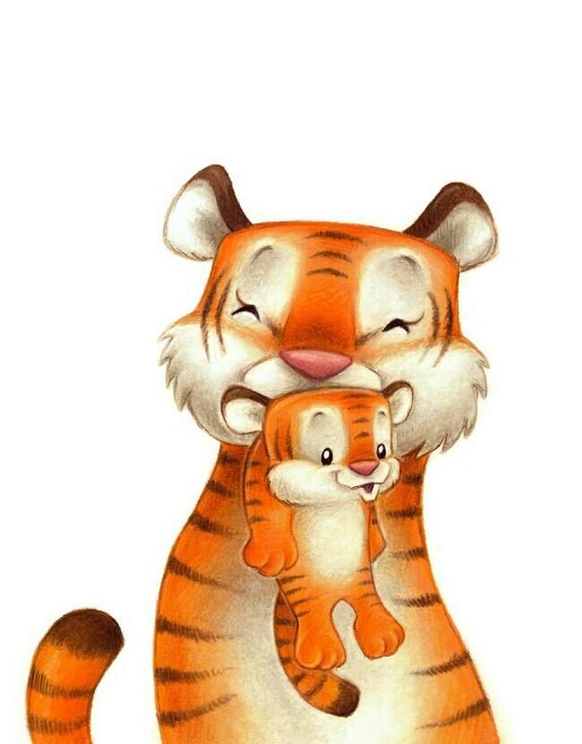 Tiger mom 🐯 Тигр мама 🐯 с тигренком