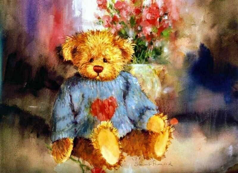Teddy bear with a heart Плюшевый мишка с сердцем